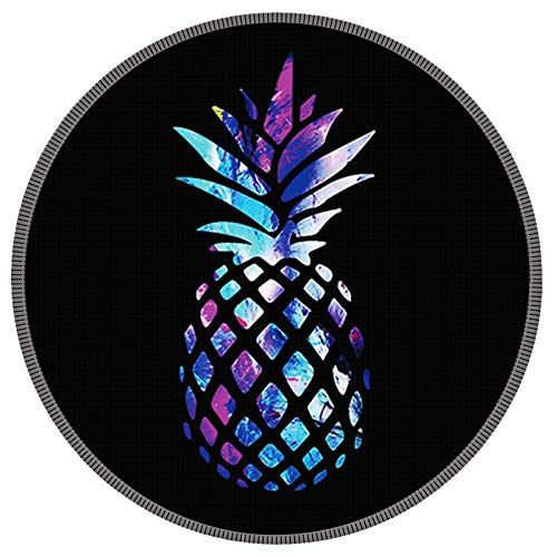 Mouse Pad Galdas Mousepad Round Gaming Mouse Pad Rubber Base Cloth Mouse Pads for Computers Laptop (Updated Version) … … (Colorful Pineapple)