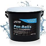 KOIPON Pon-Balls Filterstarter, Teich Bakterien zur Teichpflege vom Gartenteich und Fischteich, Filterbakterien Gelkugeln 2,5 l, Nitrit Entferner