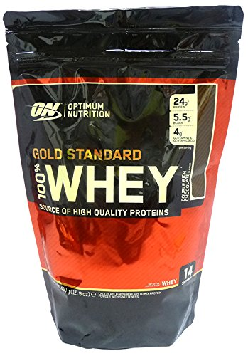 100% Whey Gold Standard Protein, Delicious Strawberry mass growth muscle gain - 450 grams by Optimum Nutrition mm