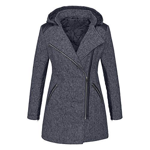 SUMTTER Winterjacke Damen mit Kapuze Gothic Mantel Dicke Wintermantel Warm Gefüttert Frühlingsjacke Sale