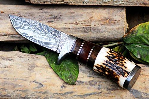 Black Mamba Knives BMK-101 Eagle 8.5 Long 4 Blade 7 Ounce Blade Damascus Hunting Fixed Blade Knife...