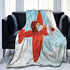 """1.Pattern:Kids,Cute Airplane Flying Cloud 2.Blanket size:60""""x50"""". Blanket Material: High quality Polyester 3.Machine wash with cold water separately on gentle/delicate cycle. Do Not Bleach. Do Not Iron. Tumble Dry No Heat. 4.Design and print: High st..."""
