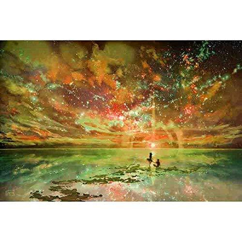 YUXAOYFAK Pittura A Olio di DIY dai Numeri Amore Romantico Tela Kits Wall Art Painting Coloring Paint By Number Brush Drawing Frameless 40X50Cm