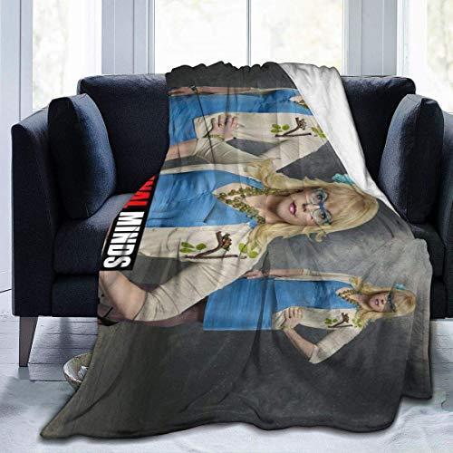 Kingam - Coperta in flanella con stampa 3D, motivo penelope, Garcia, per divano e divano