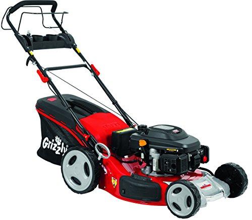 Grizzly Benzin Rasenmäher BRM 56 196 A OHV Elektrostart Mäher Motormäher für einen sauber gemähten Rasen