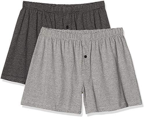 Living Crafts Boxer-Shorts, 2er-Pack 5, Stone Grey/Anthra Melange