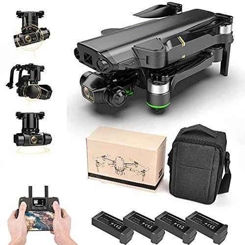JJDSN Drone GPS Plegable con cámara 8K para Principiantes, Mini Drone Profesional HD Mecánico de 3 Ejes Gimbal Cámara Dual 5G WiFi Fotografía aérea RC Quadcopters