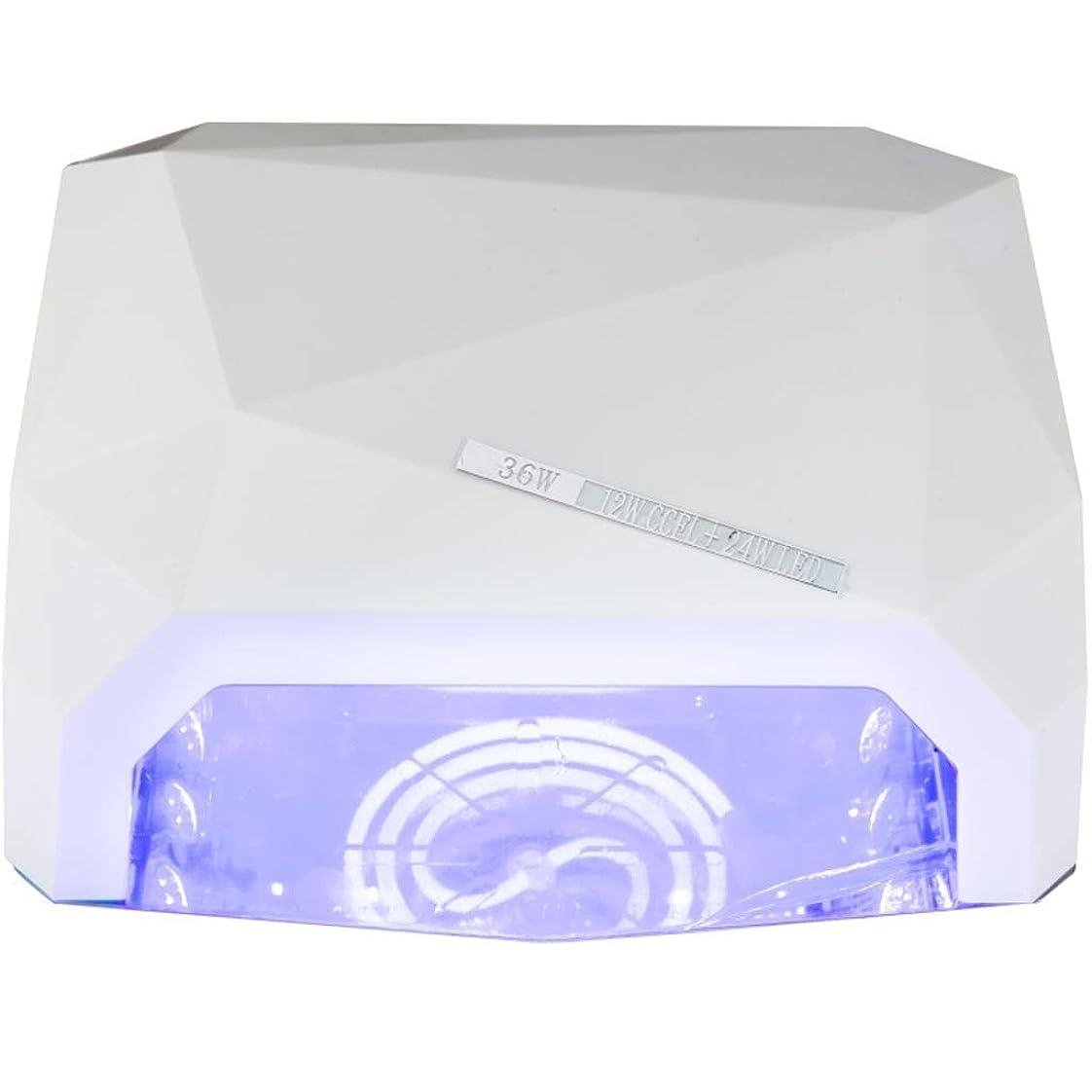 エラー工夫する封建ネイル光線治療装置インテリジェントタイミング乾燥高速36Wポータブル耐久性のある爪ツールの贈り物 (色 : 白)