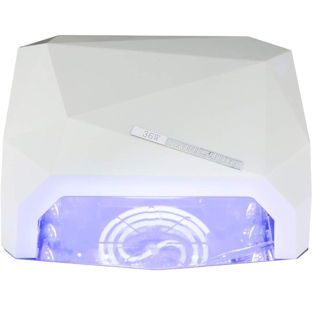 混合したキウイ要求ネイル光線治療装置インテリジェントタイミング乾燥高速36Wポータブル耐久性のある爪ツールの贈り物 (色 : 白)