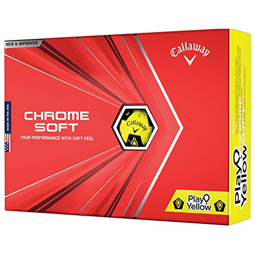 2020 Callaway Chrome Soft Golf Balls (Play Yellow Truvis)