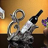 YAeele sala de estar interior pantalla escultura de la cocina europea escritorio cisne resina de accesorios for el hogar de la moda botellero de vino de regalo armario de soportar las decoraciones del