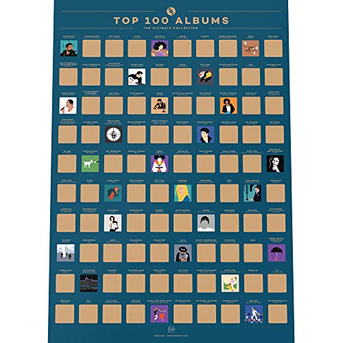 Enno Vatti 100 Albums Scratch Off Poster - Top Music of All Time Bucket List (16.5' x 23.4')