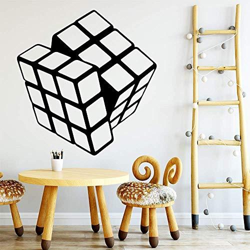 Vinyl Self-Adhesive Cartoon Rubik Cube Vinyl Kitchen Wall Stickers Wallpaper Wall S Decoration Vinilo Pared 43 44Cm