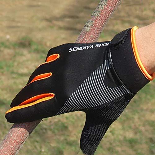 1 par de Guantes de Bicicleta con Pantalla táctil para Dedos completos, Guantes para Hombres y Mujeres, Manoplas de Verano Transpirables-Orange-2-L