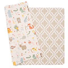 LARGE & ONE-PIECE - comparable to a queen mattress in size. No hassle with puzzle pieces INNOVATIVE CUSHIONING - an egg dropped from 10ft wouldn't break NONTOXIC & SAFE - free from phthalate, BPA, lead, latex, formaldehyde, and EVA (Tested to Europea...
