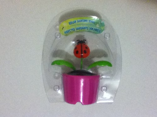 4'plastic Solar-powered Dancing Bugs (Assorted Colors and Designs)