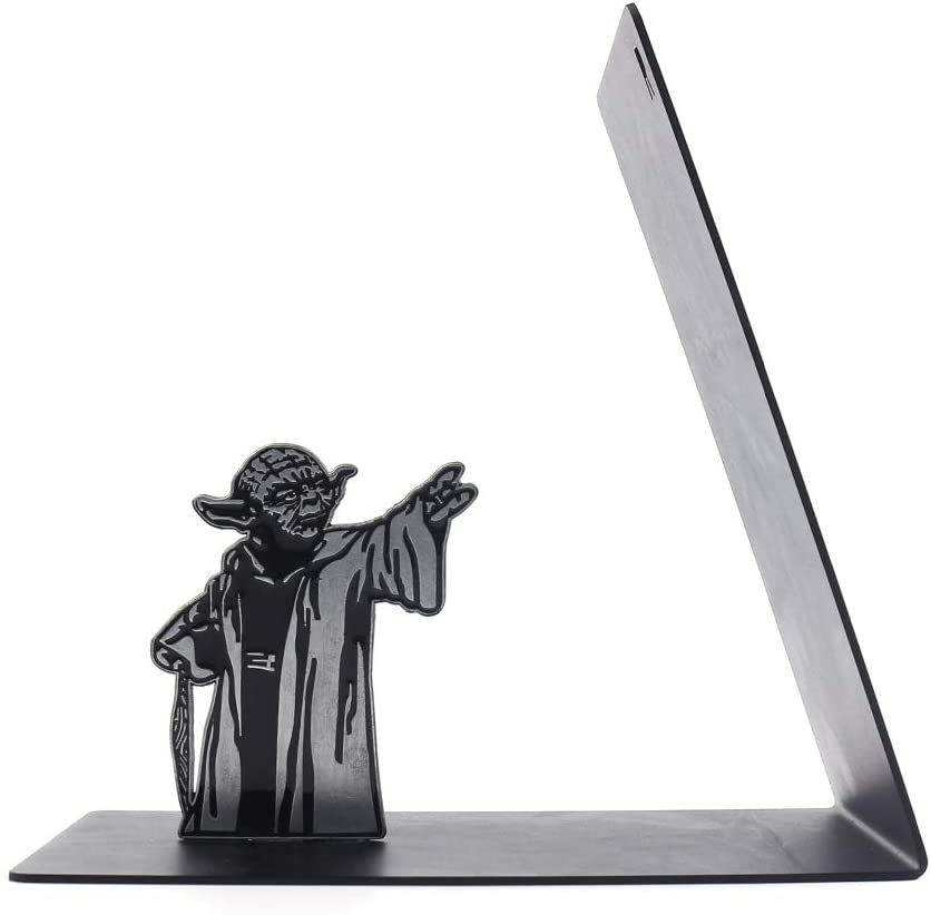 Premium Manufacturer direct delivery Heavy-Duty Metal Bookend Suppor New item Black - L-Shaped