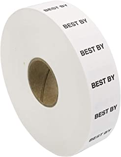 Amram 2 Line Price Marking Labels, White/Black Best By, 1 Sleeve of 14,000 labels (8 Rolls, 1,750 Labels Per Roll) for Monarch 1136. Includes 1 replacement Ink roller.