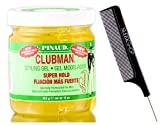 Pinaud Clubman Since 1810 STYLING GEL for MEN (w/Sleek Comb) No Alcohol, Superhold, Never Greasy (SUPER HOLD - 16 ounce size jar)
