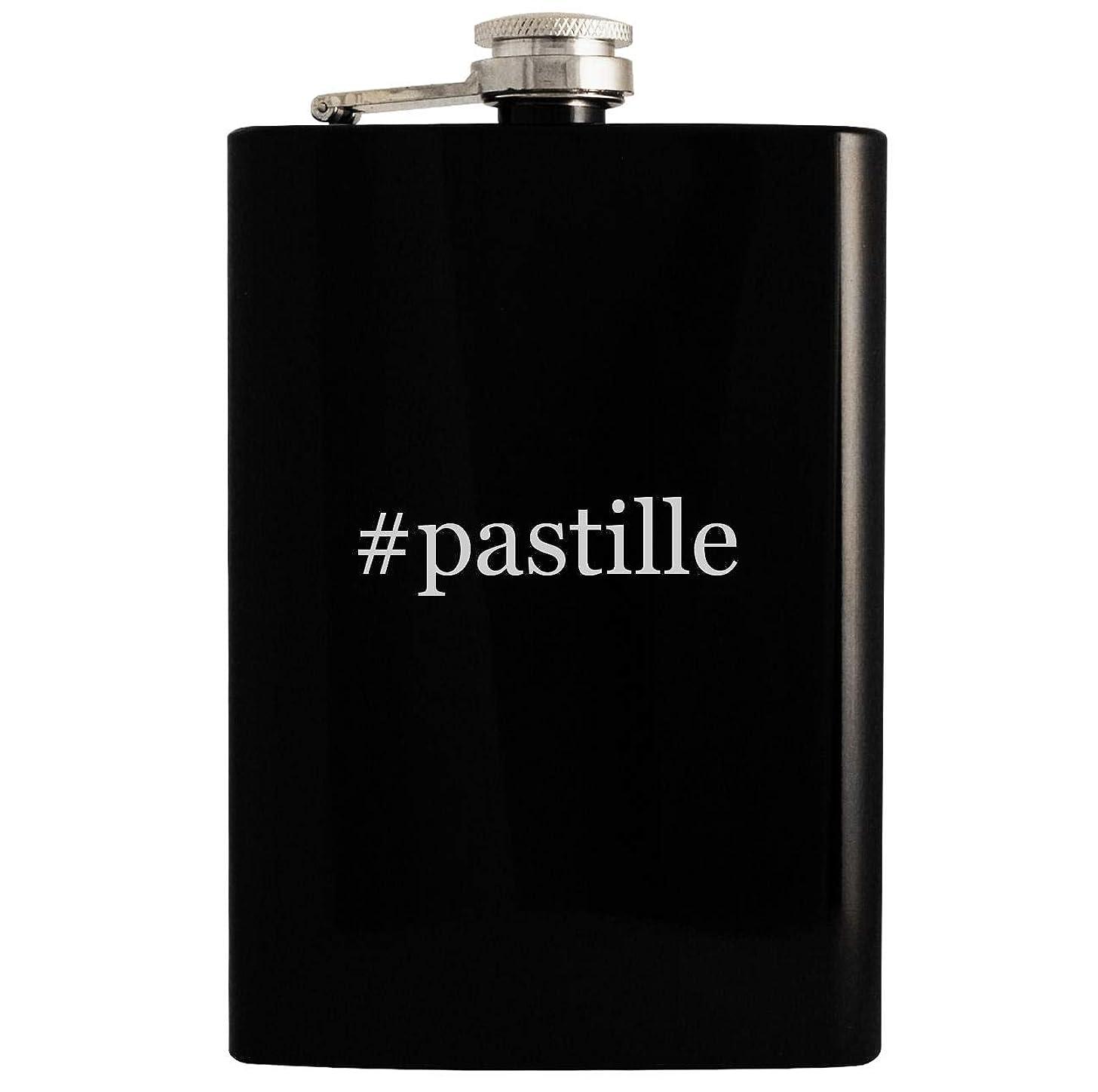 #pastille - 8oz Hashtag Hip Drinking Alcohol Flask, Black