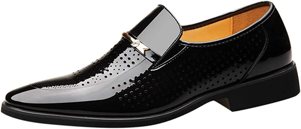 Forthery Men's Oxford pointed shoes,fashion business,casual and comfortable,versatile shoes,dress shoes(Black,7)