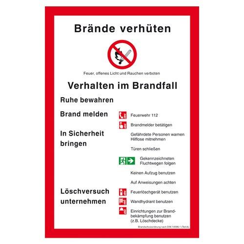 Brandschutzordung nach DIN 14096 Teil A Kunststoff (ISO) 300 x 200 mm