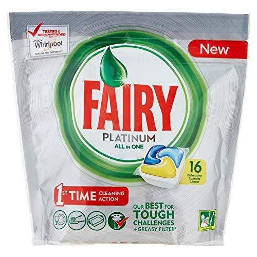 Fairy Platinum - Lavavajillas, limón, 16 cápsulas