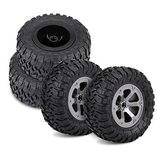 Dilwe 4Pcs RC Crawler Tyres Off-Road-Auto-Gummireifen-Fernbedienung Military Car Tires für 1:16 RC Car Accessory Part