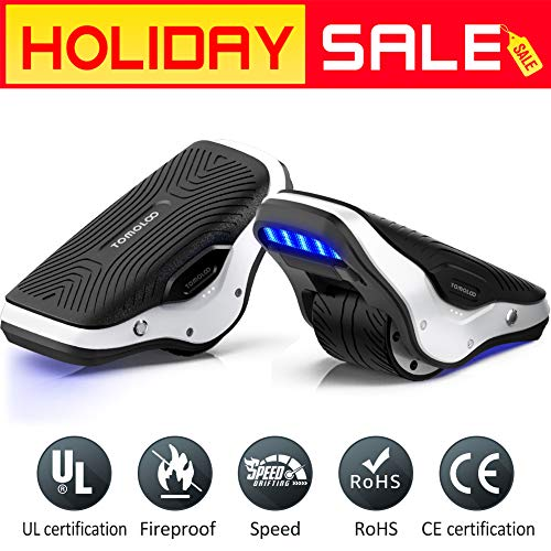 TOMOLOO Spacewalker S1 Electric Roller Skate Hover Board with LED Lights,250W Dual Motor Self Balancing Scooter for Kids and Adults, One Wheel Hovershoes for Outdoor Skating, 12km/h Max Speed