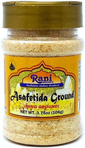Rani Asafetida (Hing) Ground 3.75oz (106g) ~ All Natural | Salt Free | Vegan | NON-GMO | Asafoetida Indian Spice | Best for Onion Garlic Substitute