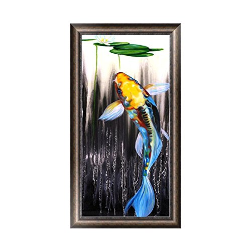 Fang Sky DIY 5D Fish Diamond Embroidery Painting Cross Stitch Craft Home Decoration Gift