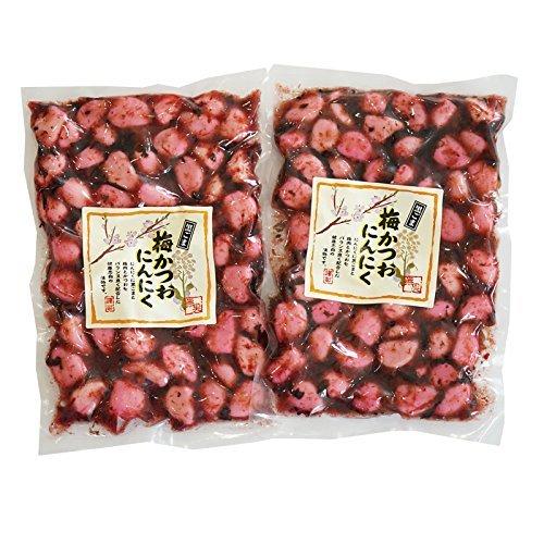 梅にんにく 黒ごま 梅かつおニンニク 230g ×2袋 ((しそ風味大蒜) 230g×2袋<09861>)