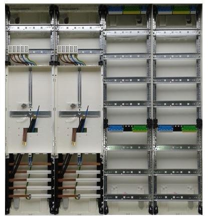 TM: 12053: Hager Zählerschrank 2x 3.HZ Zähler + 2x Verteiler ZB34S