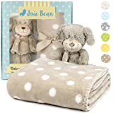 JOIE BEAN Baby Blanket and Stuffed Animal Set for Boys, Girls | 2...