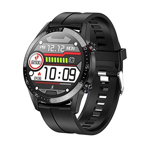 JIUTAI Inteligente Reloj de la Salud y de la Aptitud SmartWatch rastreador de Ejercicios Actividad Pulsera Negro Bluetooth del sueño del Ritmo cardíaco Multifuncional Llamada App