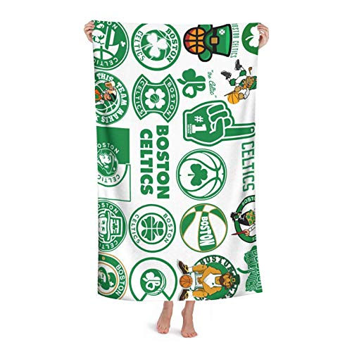 Unisex Adult Beach Towels Boston Basketball Cel-tics Large Size Bath Towels, Suitable for bathrooms, Swimming Pools, Beaches, etc.