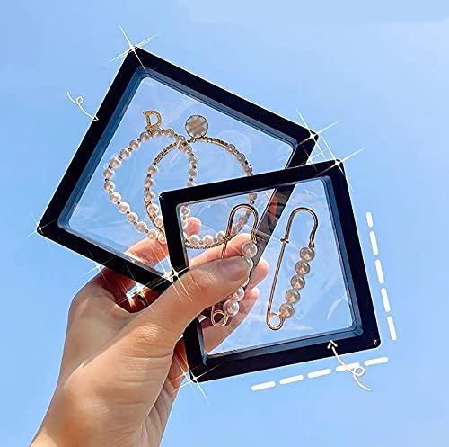 Recet Joyero antioxidación, transparente, Pe-Film, joyero, pendientes, collares, anillos, caja compacta y portátil