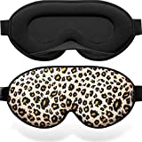 Unimi Sleep Mask Leopard Print,Soft Comfortable Eye Mask for Sleeping,Slow Recovery Memory Form Sleeping Mask, Light Blocking Sleeping Eye Mask for Travel,Nap,Yoga-Yellow Leopard Print