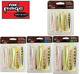 Fox Rage Zander Pro Shads Mixed Colour, 5 Set, Gummifische, Gummiköder für Zander, Hechtköder, Zanderköder, Barschköder, Forellenköder, Länge:7.5cm