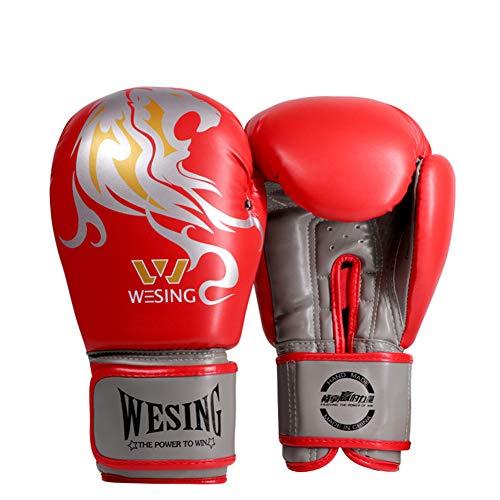 Ainsleyer bokshandschoenen, voor volwassenen, stof, leer, vechthandschoenen, comfortabel en ademend, veiligheid, schokbestendig, sanda handschoenen, training op zandzak, uniseks