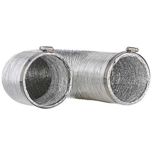 Flexible Clothes Dryer Duct - 10 Foot by 4 Inch   Includes 2 Premium...