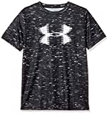 アンダーアーマー テックビッグロゴプリントTシャツ(トレーニング/Tシャツ) 1331688 ボーイズ BLK/WHT(002) YLG(150)