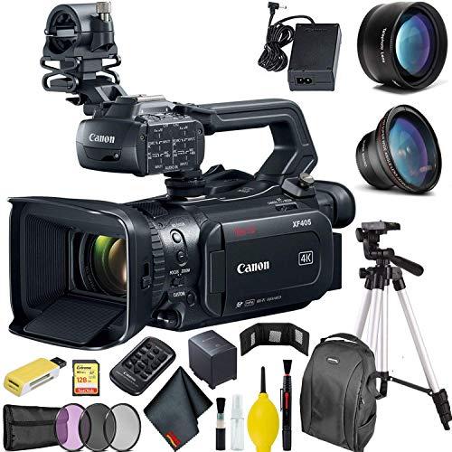 Canon XF405 4K UHD 60P Camcorder with Dual Pixel Autofocus Pro Bundle