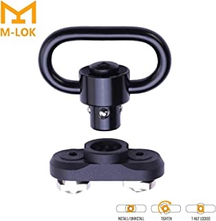 Mlok QD Sling Mount Sling Swivel-Gun Sling Attachment for Mlok Rail,Rifle Sling Adapter Attachment with Quick Release Button (Two Point) (Black)