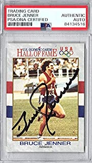 Bruce Jenner Signed - Auto 1991 Impel Olympic Hall of Fame Card - Caitlyn Jenner - Certificate of Authenticity - Slabbed Holder - PSA/DNA Certified
