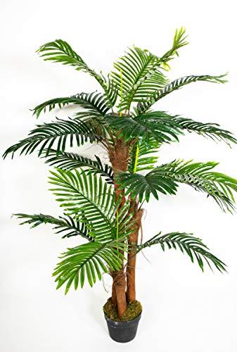 Seidenblumen Roß Phönixpalme 3-stämmig 140cm Real Touch ZJ künstliche Palmen Palme Kunstpalmen Kunstpflanze Dekopalme