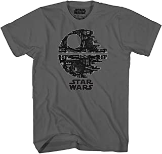 Death Star Glow in Dark Tee Darth Vader Empire Luke Skywalker Han Solo Chewbacca R2D2 Adult Mens Graphic T-Shirt Apparel
