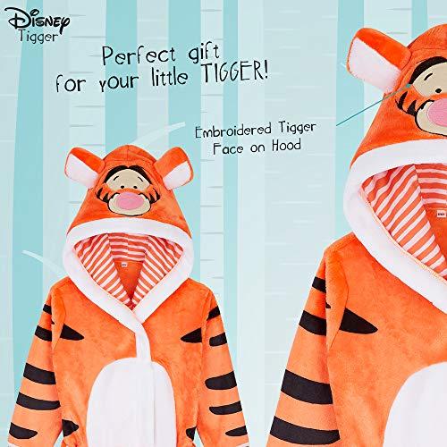 Disney Kids Dressing Gown, Lilo and Stitch, Lion King, Mickey Robe Girls Boys, Disney Gifts (Orange, 2-3 Years)