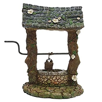 TG,LLC Treasure Gurus Miniature Old Wishing Water Well Fairy Garden Ornament Dollhouse Accessory Decor