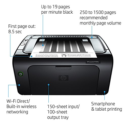 HP Laserjet Pro P1109w 600 x 600DPI A4 WiFi Negro - Impresora ...